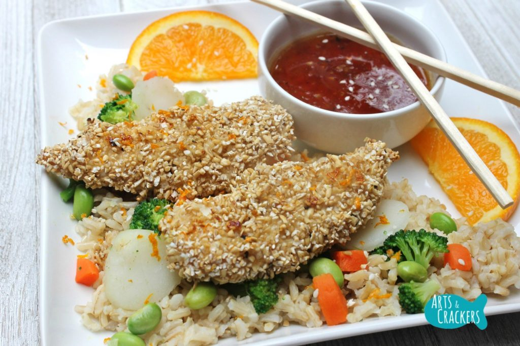 Oat Crusted Chicken Crossed Chopsticks
