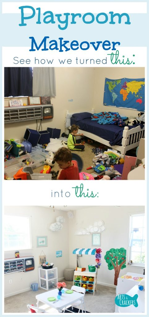 Watch how we transformed this messy bedroom into a clean, bright, learning-oriented playroom somewhat inspired by Montessori concepts | Playroom | Kids | Home | Home Design | Design | Bedroom | Learning | Classroom | Play Room | Kid Space | Kid Room | Children | Parenting | Clean Design | Learning Center | Makeover | Decorating | Design | Interiors | Renovating | Play Space