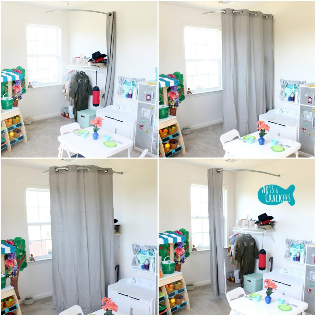 Playroom Makeover Curtains