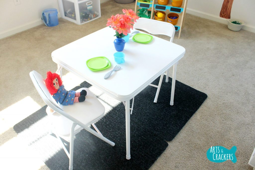 Playroom Makeover Table