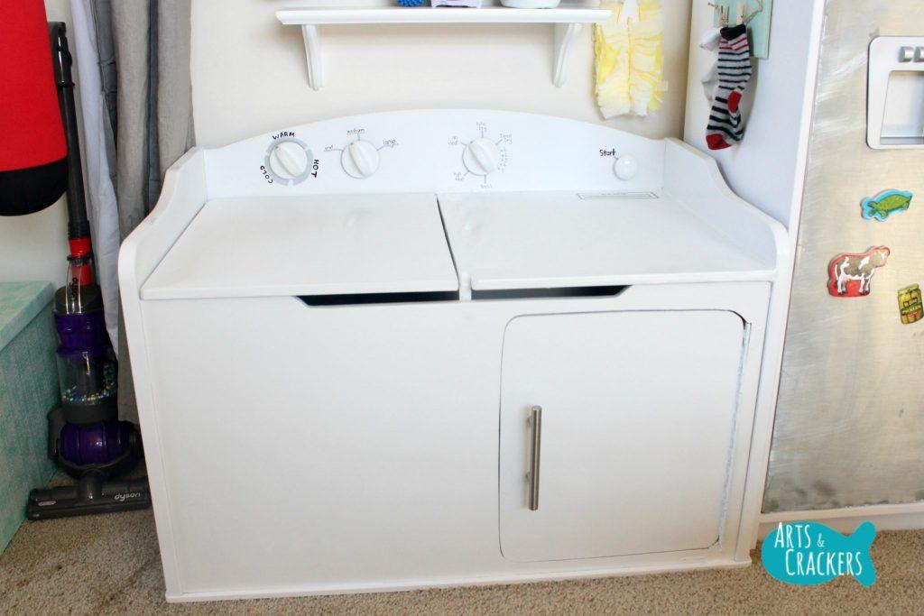 Playroom Makeover Washer Dryer
