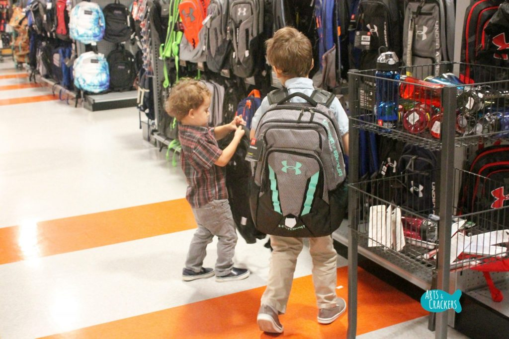Back to School at Dick's Backpack Shopping