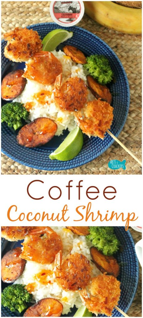 This coffee coconut shrimp is a sweet and crispy dinner idea inspired by Caribbean cuisine | Dinner | Recipe | Foodie | Shrimp | Coffee | Coconut | Pan Fry | Entree | Caribbean | Food | Recipe | Seafood