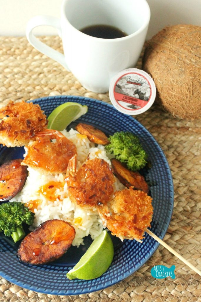 Coffee Coconut Shrimp Skewer