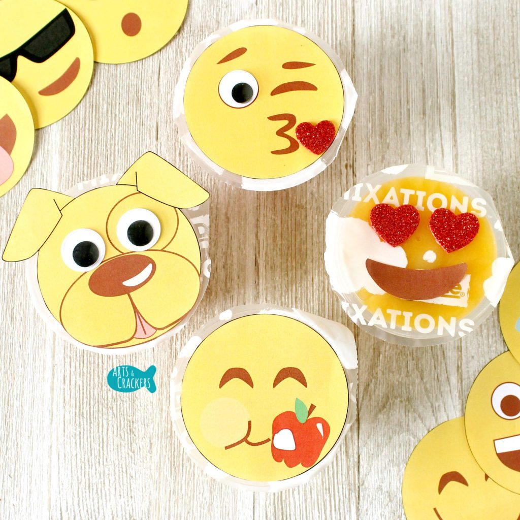 Emoji Fruit Cups Square