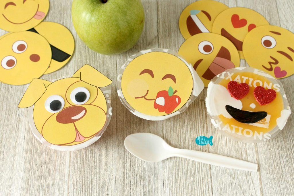 Emoji Fruit Cups Three