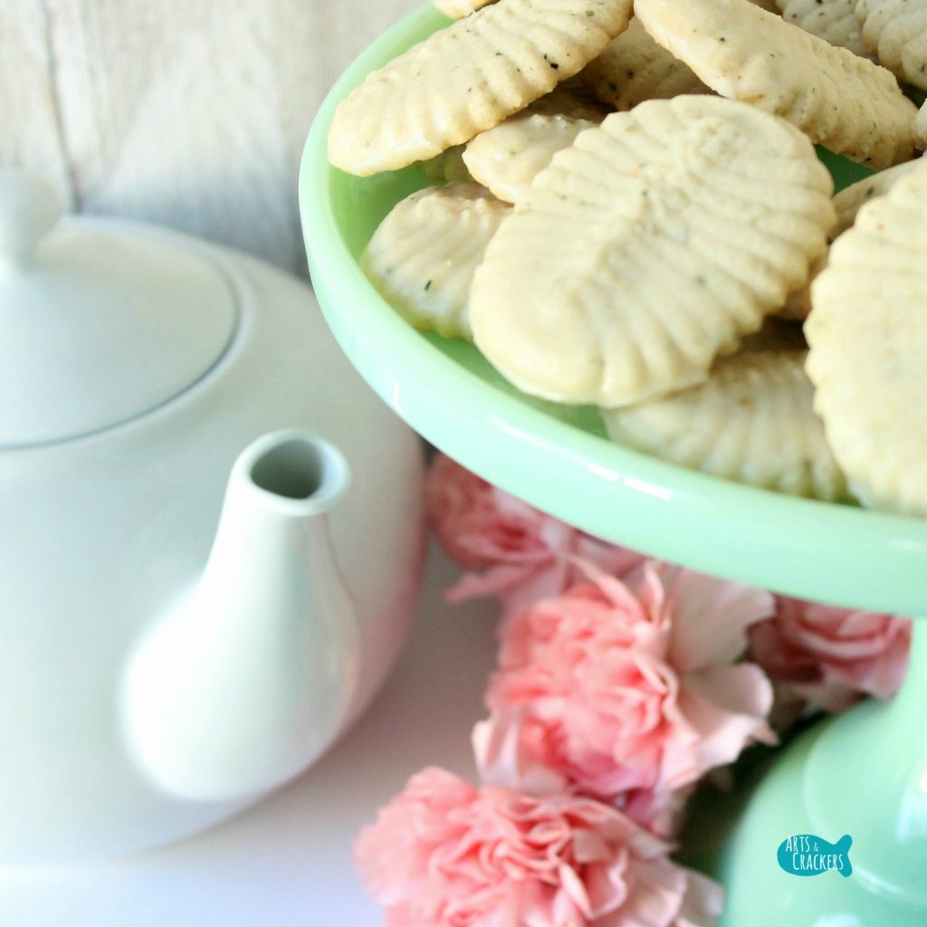 Green Tea Spritz Cookies Square