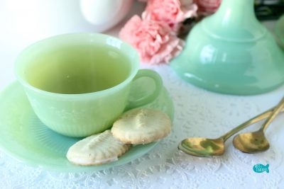 Green Tea Spritz Cookies with Cup
