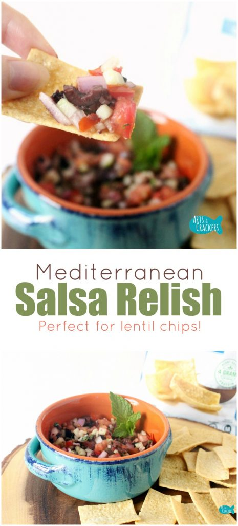 Enjoy the flavor of Mediterranean cuisine with this Mediterranean Salsa Relish. It is simple to make and has a delightful combination of flavors that work as both a salsa and a relish | Mediterranean Diet | Mediterranean Cuisine | Greek Salad | Kalamata Olives | Salsa | Relish | Recipes | Party Food | Appetizer Recipe | Healthy Recipes | Quick Recipe | Greek Recipes