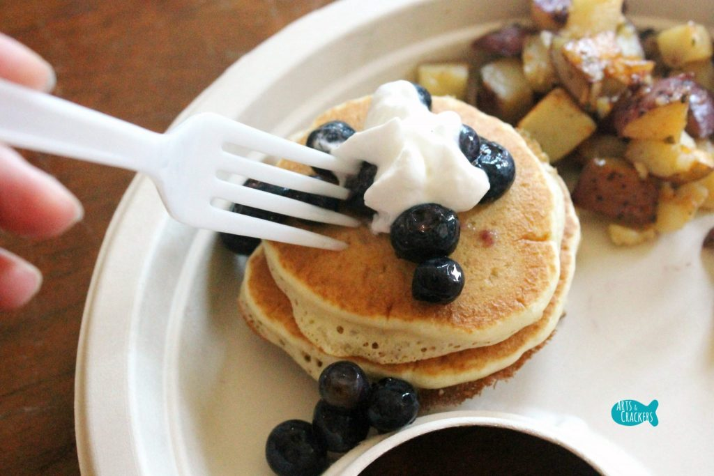 Farmhouse Breakfast Party Blueberry Pancakes