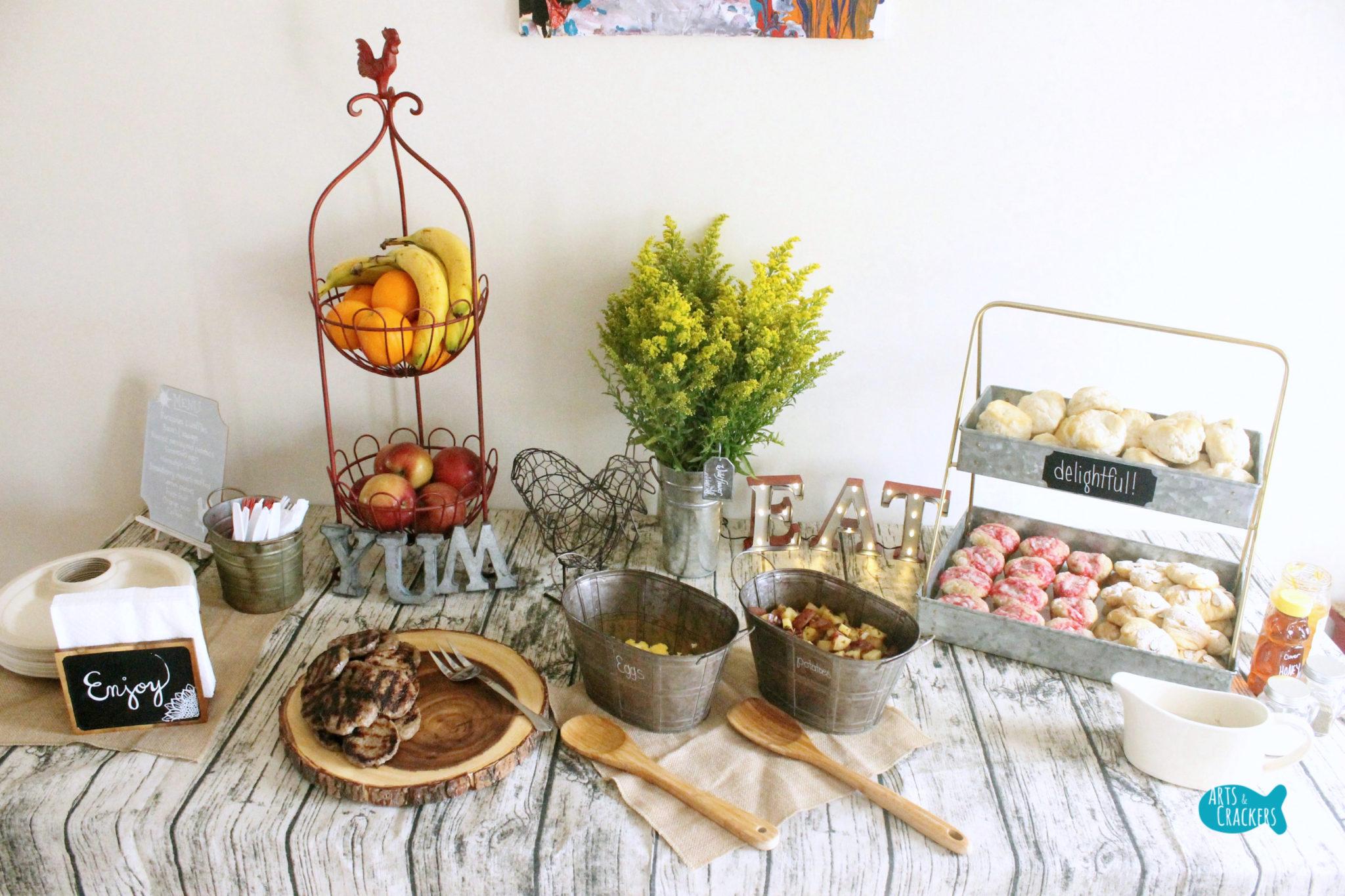 Tablescape Farmhouse Breakfast Party Theme And Menu Ideas