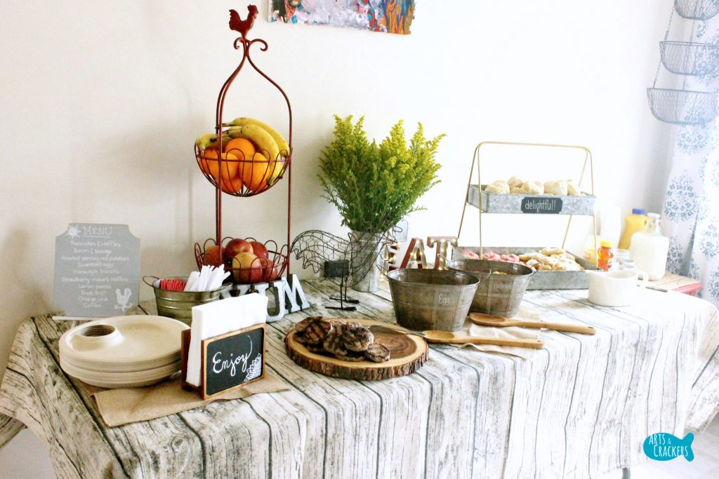Farmhouse Breakfast Party Tablescape Angle