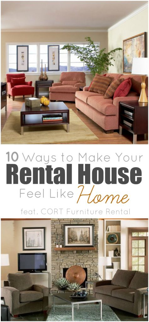 If you are renting a home, especially if you are a military family, check out these 10 tips for making your temporary residents feel like a home | Rental Home | Renting | Temporary Residence | Home Decor | Interior Design | Furniture Rental | CORT Furniture Rental | Home