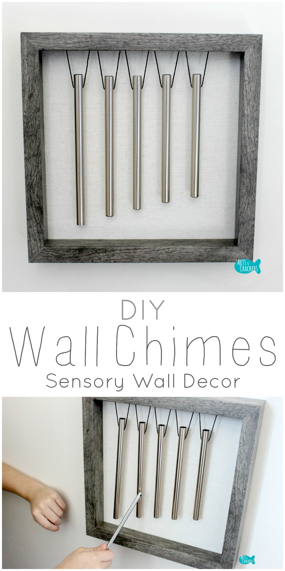 These Diy Wind Chimes For The Wall Work As An Interactive Sensory Decoration