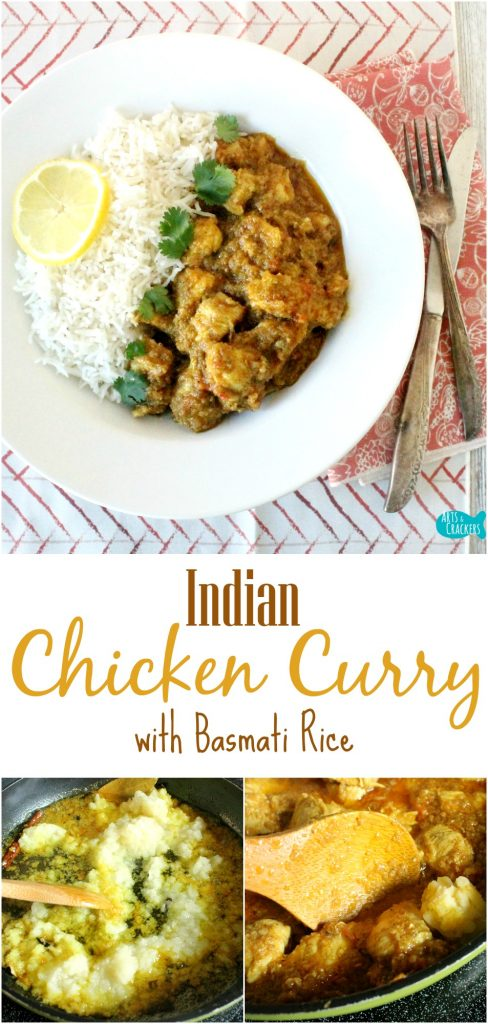 This Indian Chicken Curry is savory and delicious. It is also lactose free and has a secret ingredient! Indian Food | Chicken Curry | Curry Recipes | Recipes | Indian Recipes | Indian Cuisine | Dry Mustard Recipes | Lactose Free | Lactose Free Recipes | Chicken Recipes | Food | Entree | Dinner Ideas | Basmati Rice