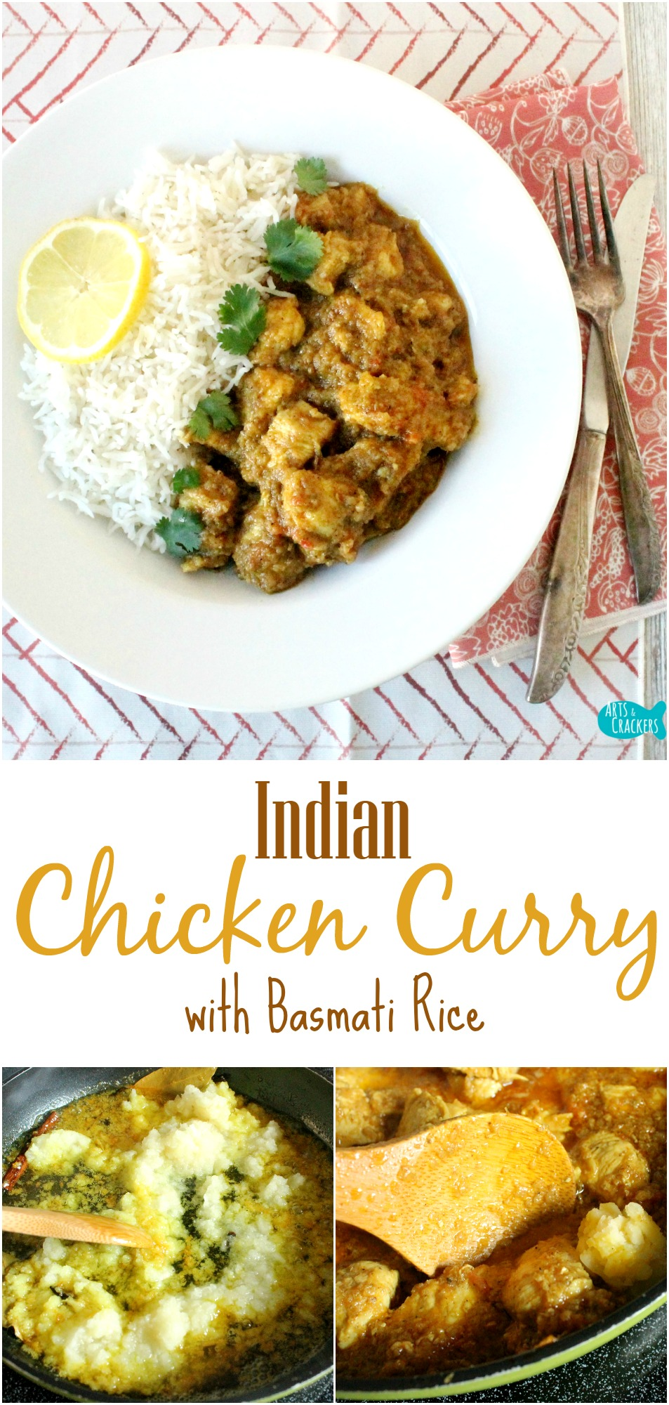 Lactose free indian chicken curry recipe with basmati rice this indian chicken curry is savory and delicious it is also lactose free and has forumfinder Gallery