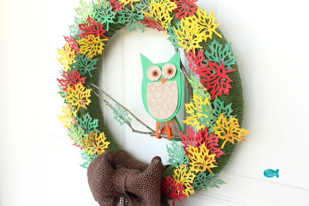 Paper Leaf Tree Wreath Angle