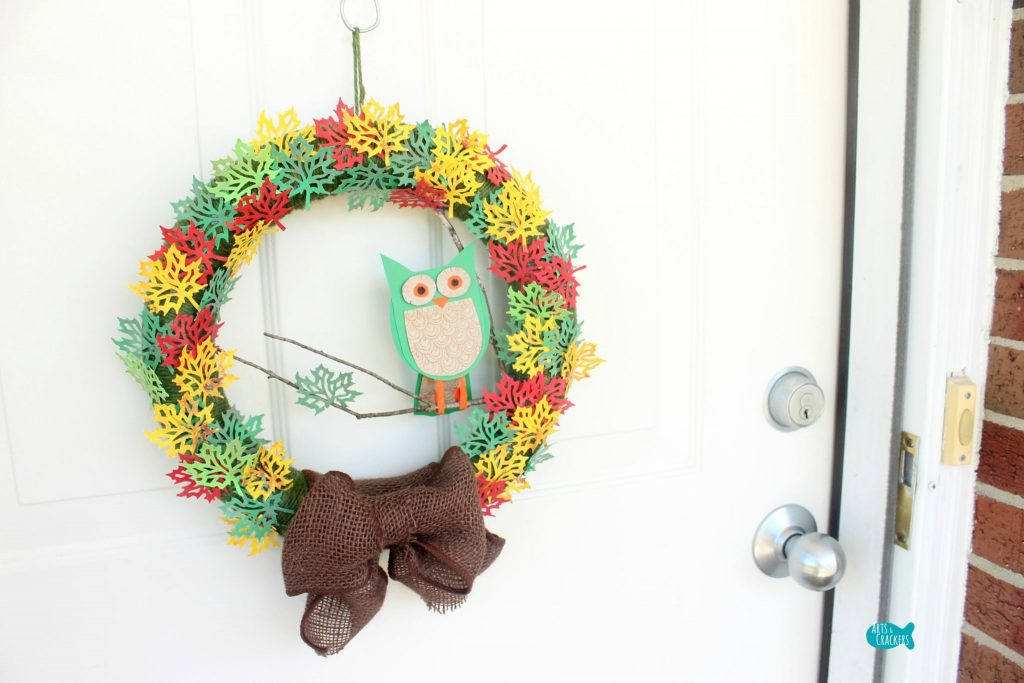 Paper Leaf Tree Wreath Cover
