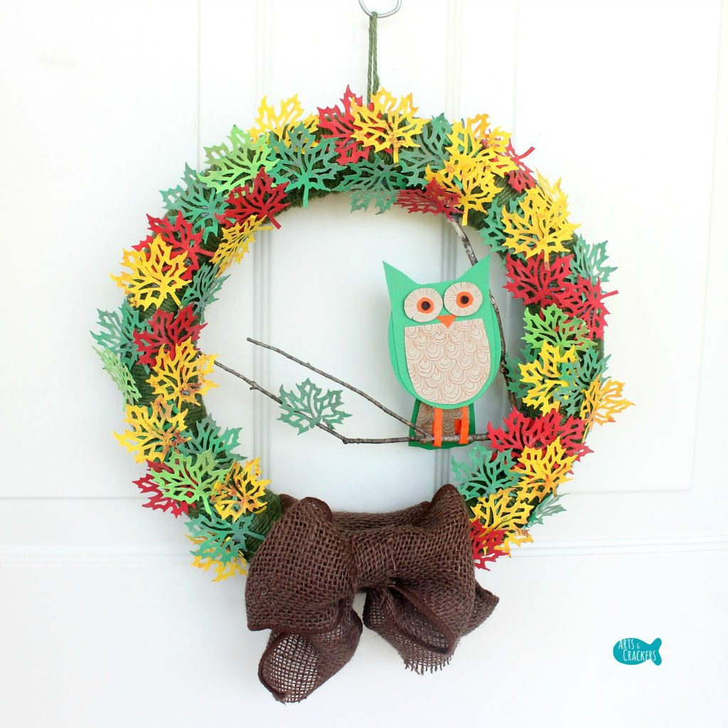 Paper Leaf Tree Wreath Square