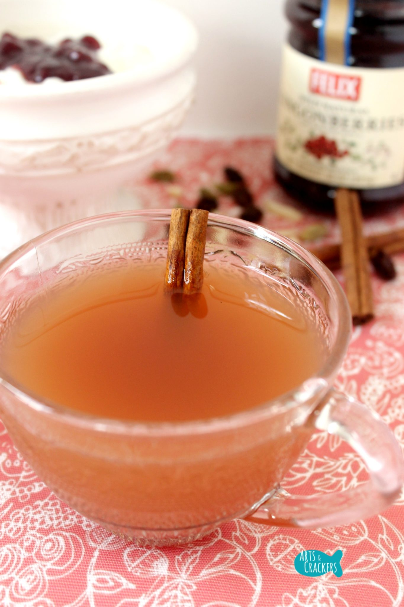 Warm Lingonberry Spiced Punch (Cider/ Non-Alcoholic Glögg ...