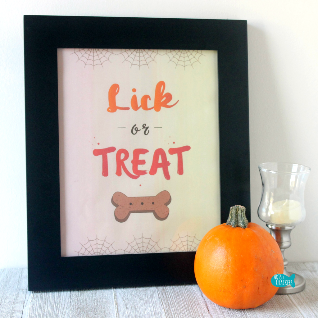 Lick or Treat Framed Decor Square