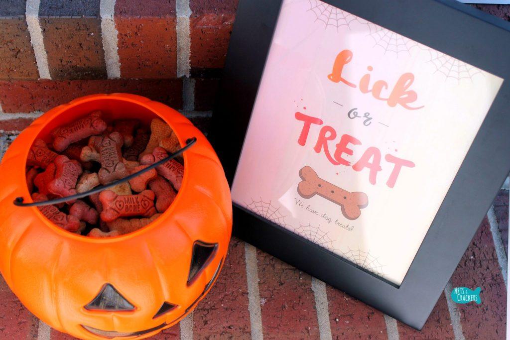 Lick or Treat Halloween Printable Dog Treats