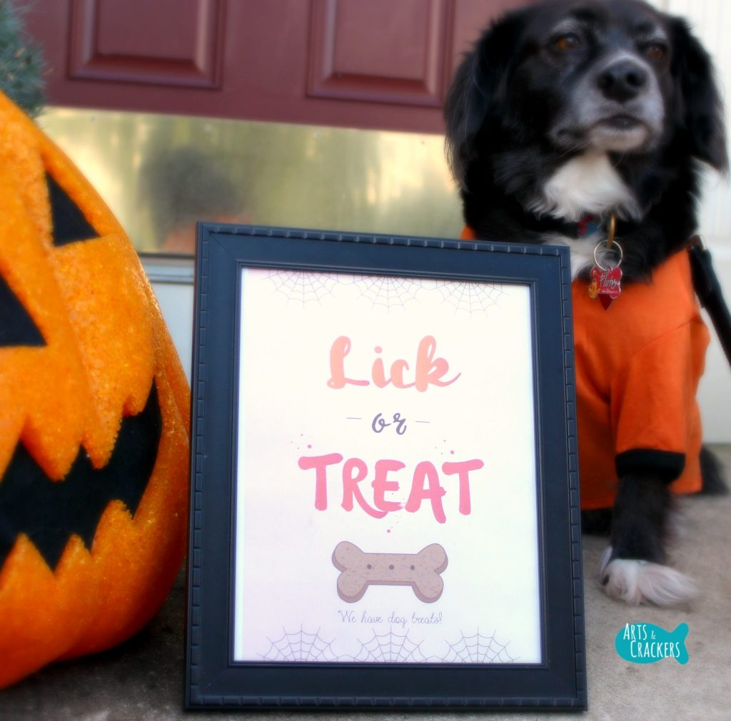 Lick or Treat Halloween Printable and Dog Square