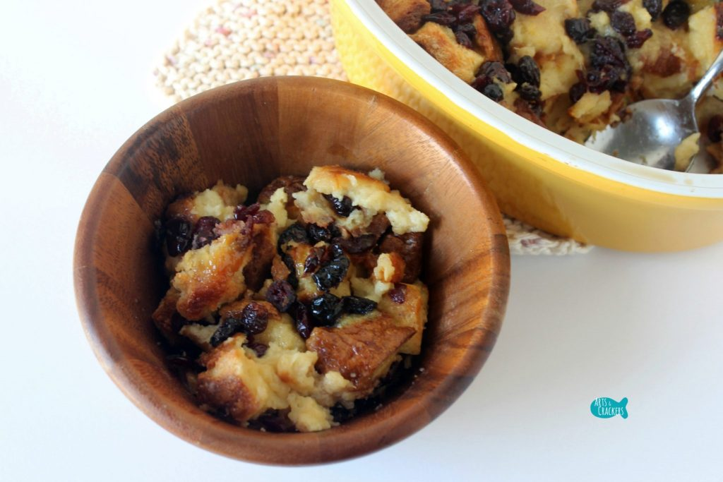 Sweet and Fruity Bread Pudding Serve