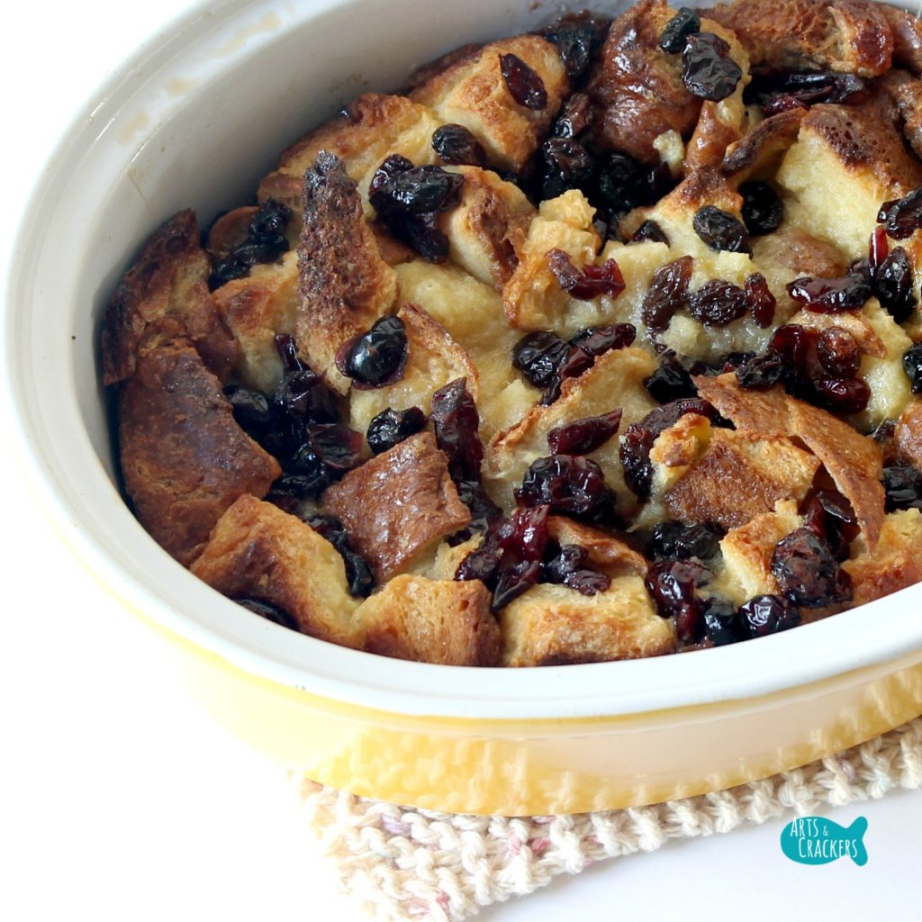 Sweet and Fruity Bread Pudding Square