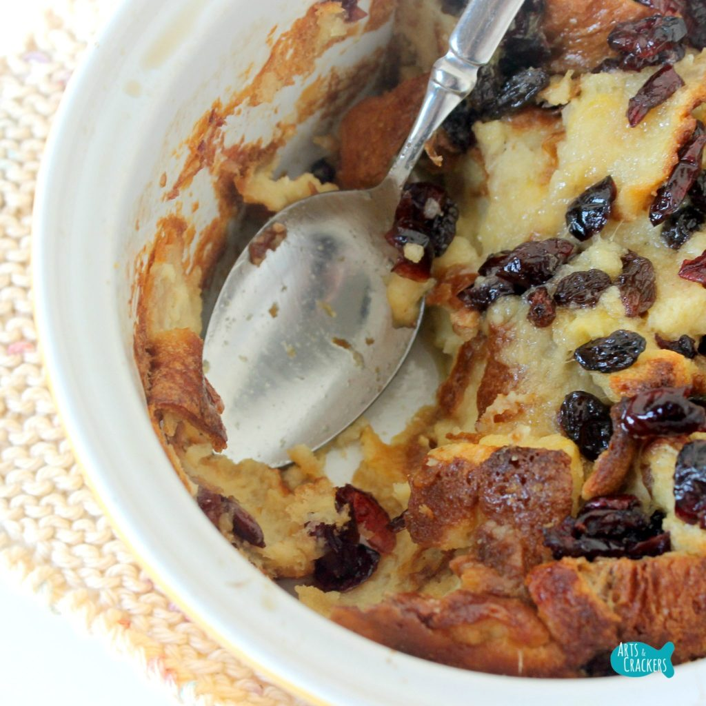 Sweet and Fruity Bread Pudding Scoop