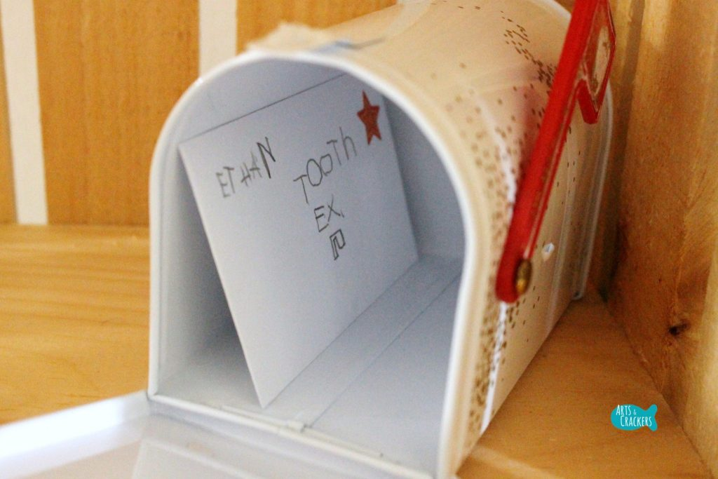 Tooth Fairy Tooth Exchange Envelope Inside Mailbox
