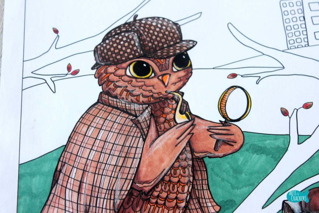 Whooodunnit Owl Coloring Page Owl
