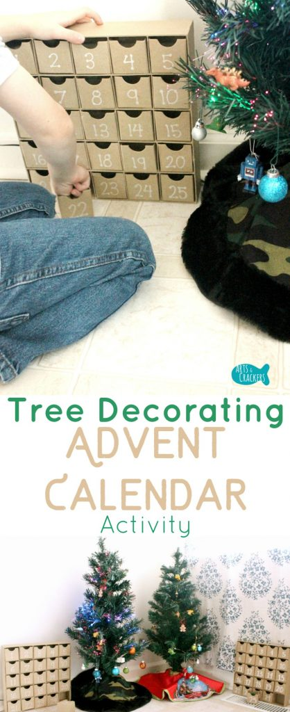 Decorate season-long with this Decorate a Tree Advent Calendar Activity to count down to Christmas | Christmas Countdown | Advent | Advent Calendar | Advent Countdown | Advent Ideas | Christmas Tree | Tree Decorating | Kids Activities | Christmas Activities | Christmas for Kids | Christmas Advent