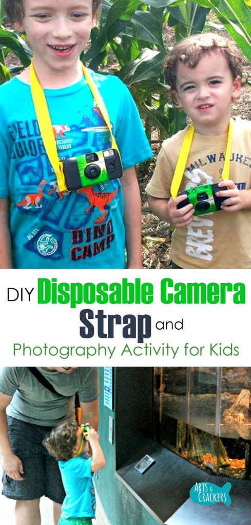 This disposable camera strap and photograph activities for kids are a great way to capture moments and bring out your child's artistic eye | Disposable Camera | Camera | Photography for Kids | Photography | Camera Strap | Camera for Kids | Taking Pictures | Activities for Kids | Montessori | Lessons for Kids