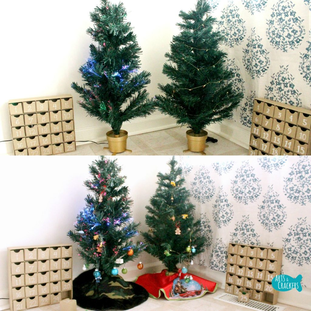 Decorate a Christmas Tree Advent Calendar Square Before and After