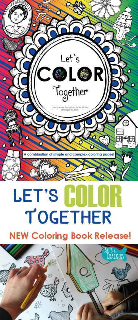 This new coloring book release, Let's Color Together, is just the holiday gift you need. Learn more about the book, how you can support the launch, and purchasing options | Adult Coloring | Coloring for Adults | New Coloring Book | Coloring Book | Coloring Therapy | Kids Coloring Book | Let's Color Together | For Sale | My Products | Book Release | Illustrations | Author | Book Launch | Parenting | Gift Ideas | Christmas | Gift Guide | 2016