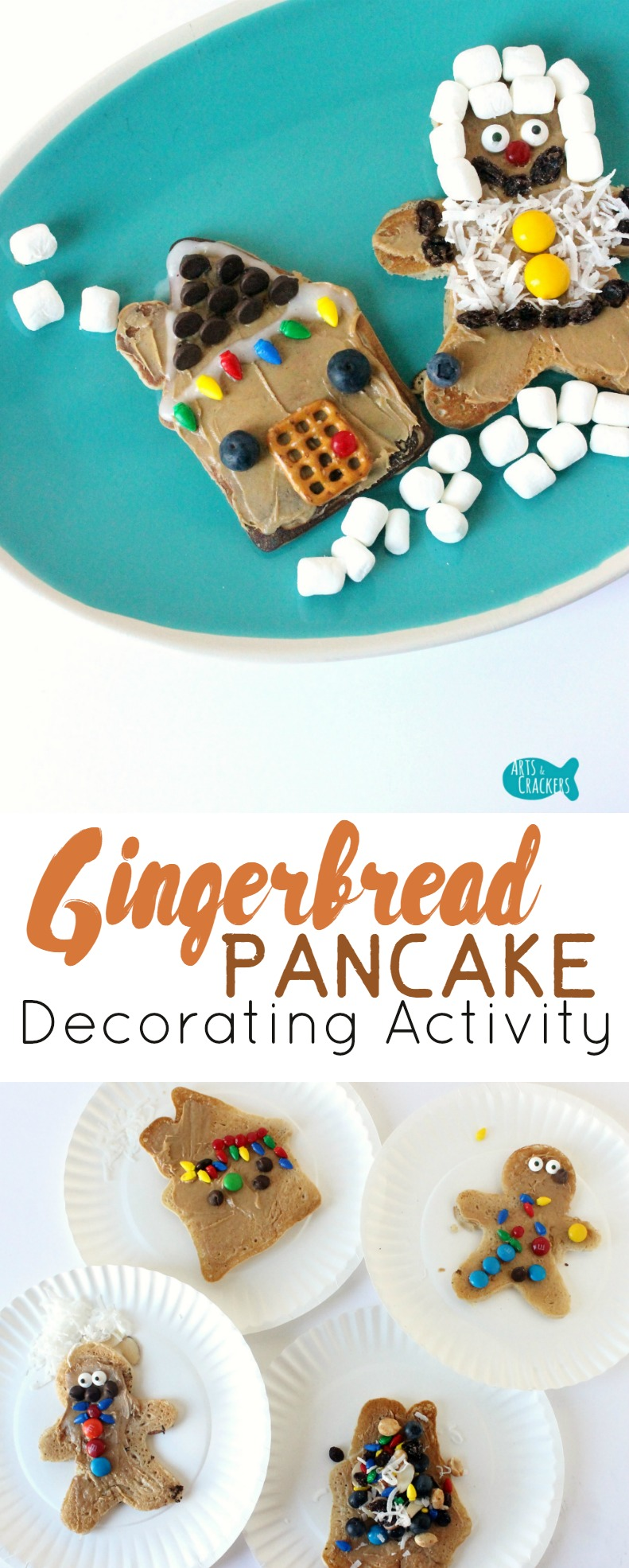 Christmas Breakfast Party Ideas Part - 35: These Gingerbread Pancakes To Decorate Are A Fun Christmas Day Breakfast  Activity. Pancake Party ...