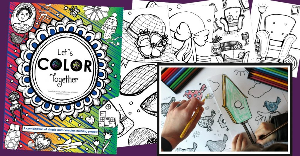 Let's Color Together Coloring Book
