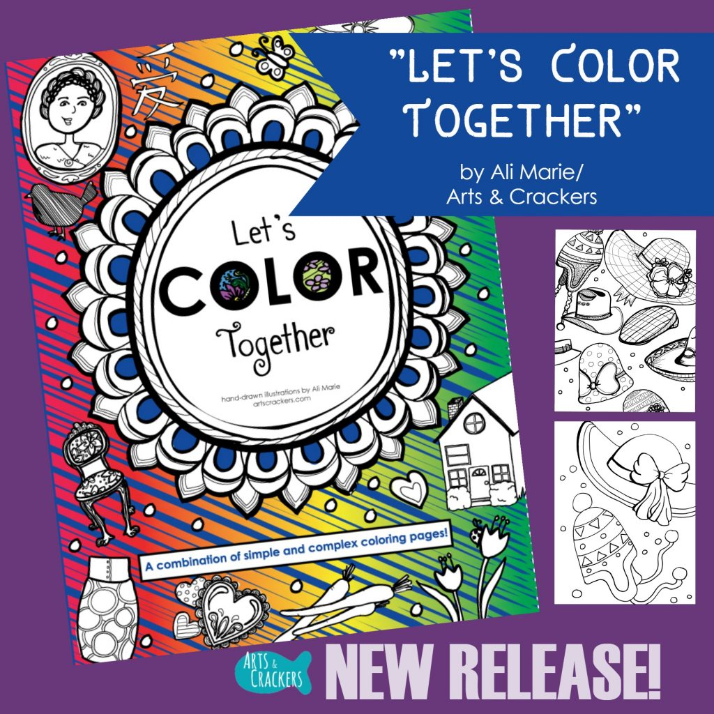 Let's Color Together New Coloring Book Release Square