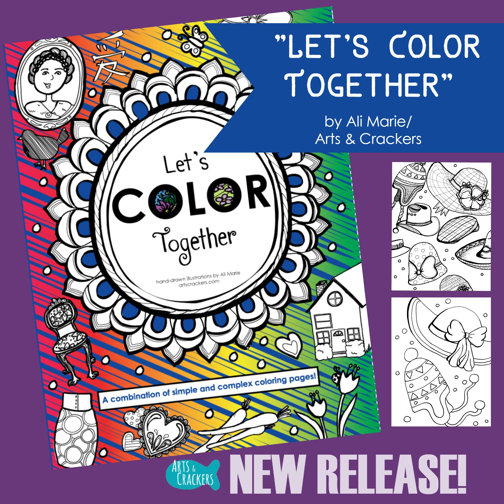 Printable 'Let's Color Together' Coloring Book