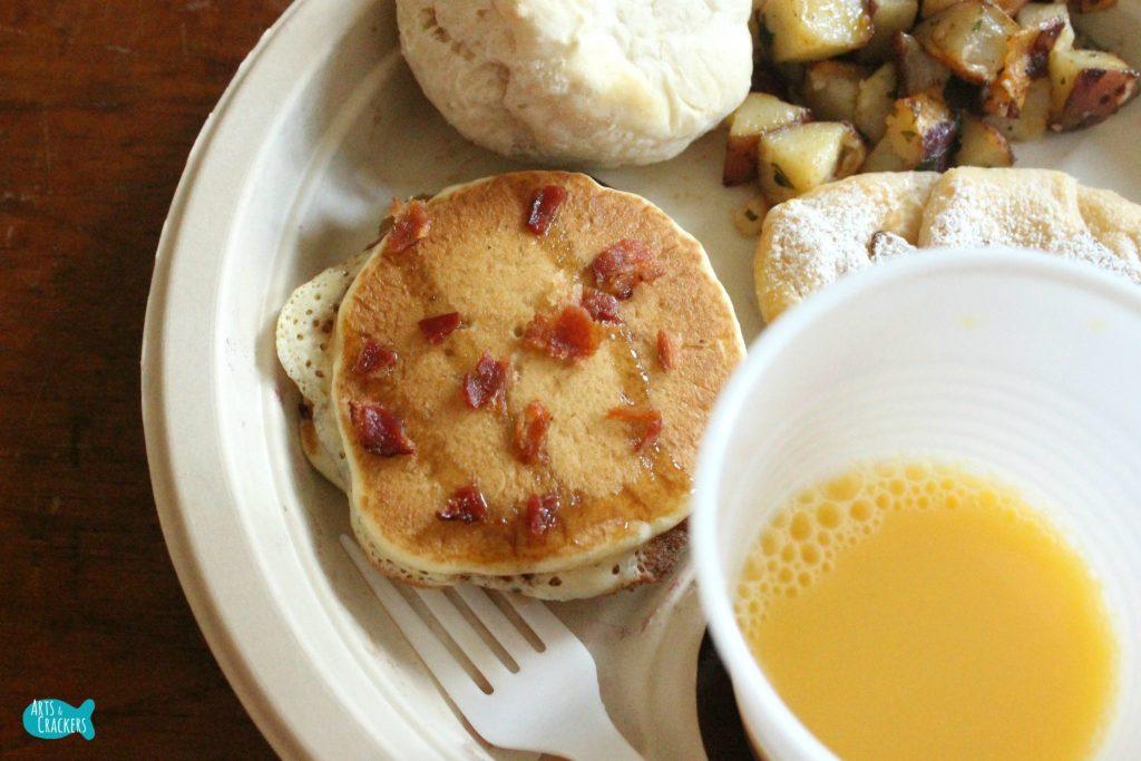 Pancake Syrup Maple Bacon Pancakes