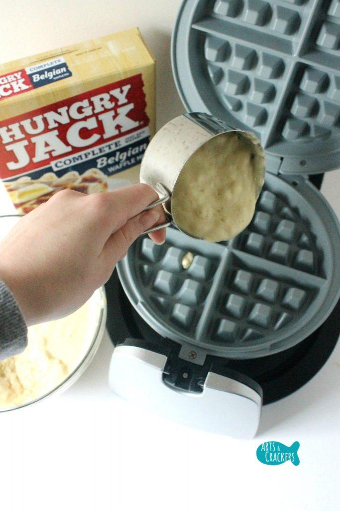 Pancake Syrup Making Waffles
