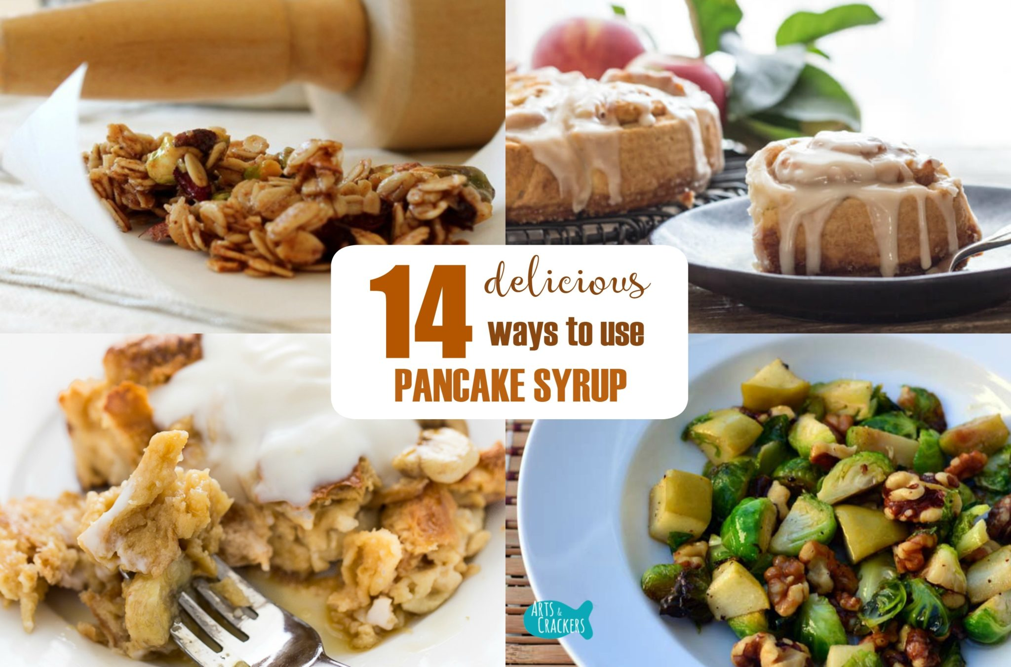Pancake Syrup Recipe Collage