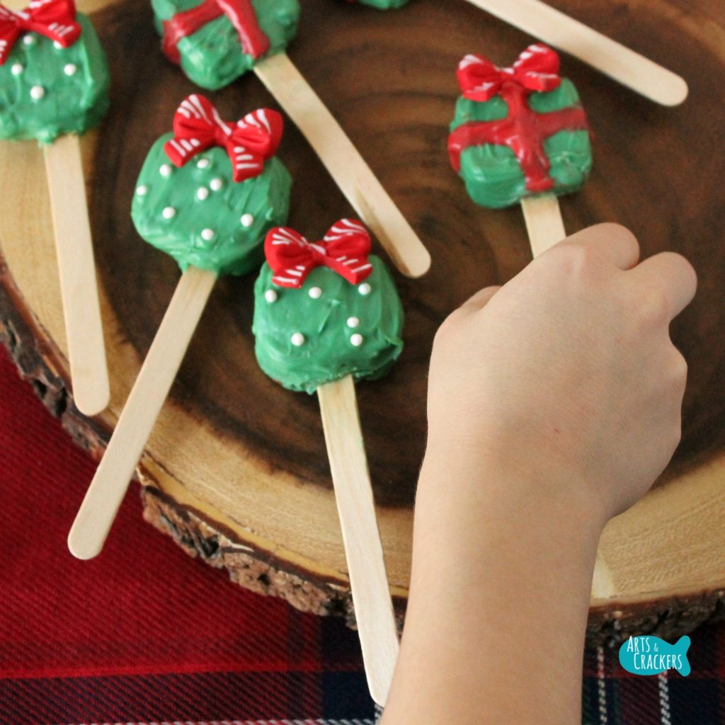 Peanut Butter Pretzel Pops Christmas Treat Square