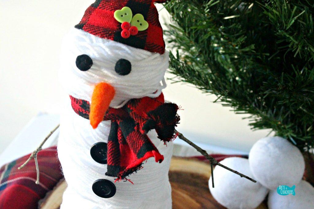 Cute Snowman Yarn Hat