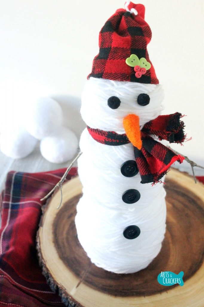 Cute Snowman Yarn Long