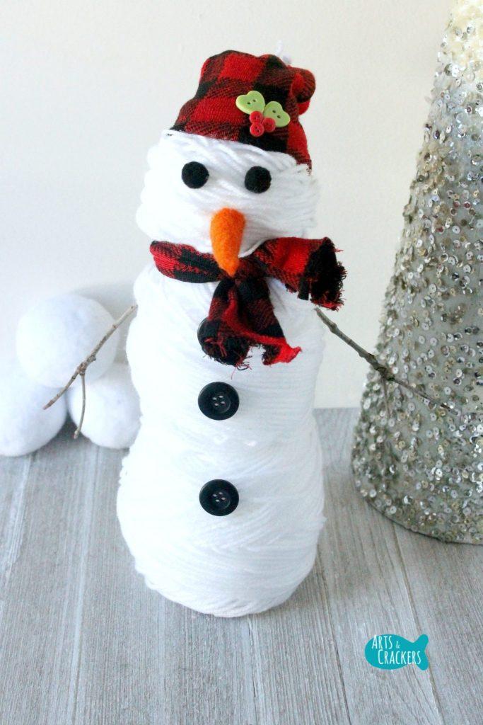 Yarn Snowman Long Front