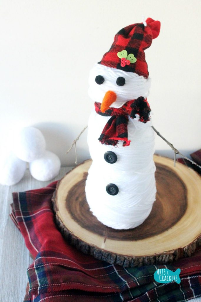 Yarn Snowman Long Full