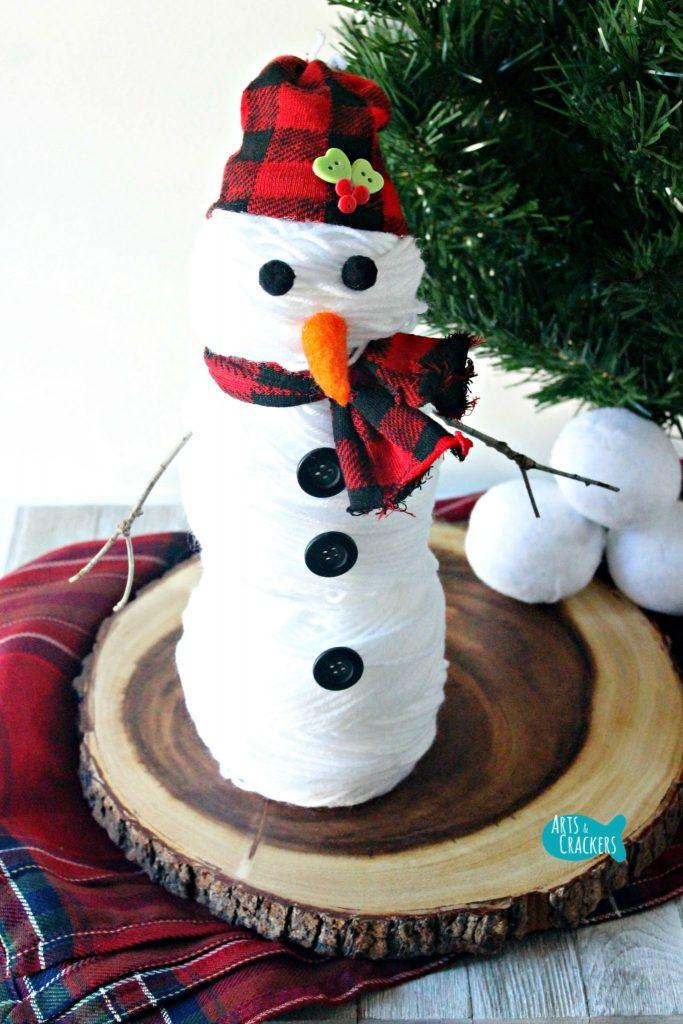 Yarn Snowman Long Pine