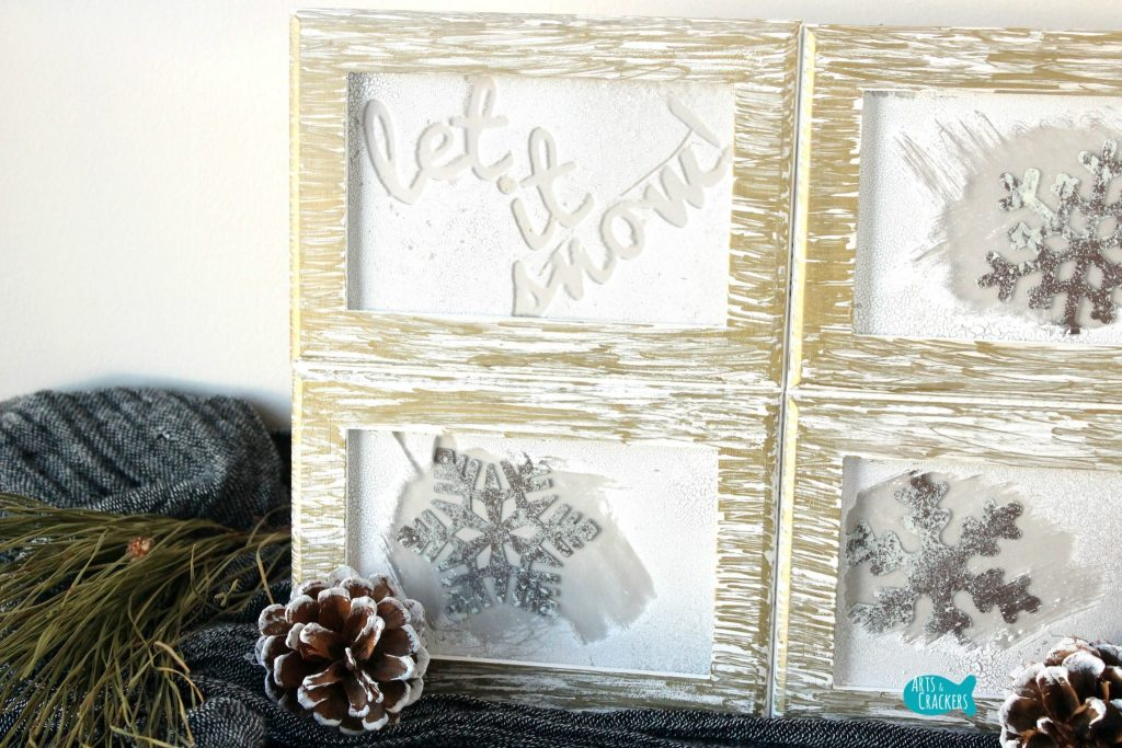 Frosted Frames Winter Home Decor Close